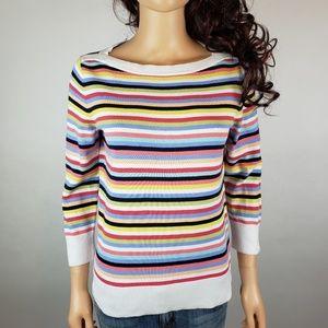 $6 w bundle Talbots Striped Knit Top 3/4 Slv sz S